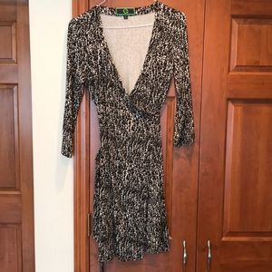 EUC C WONDER WRAP DRESS SZ LARGE